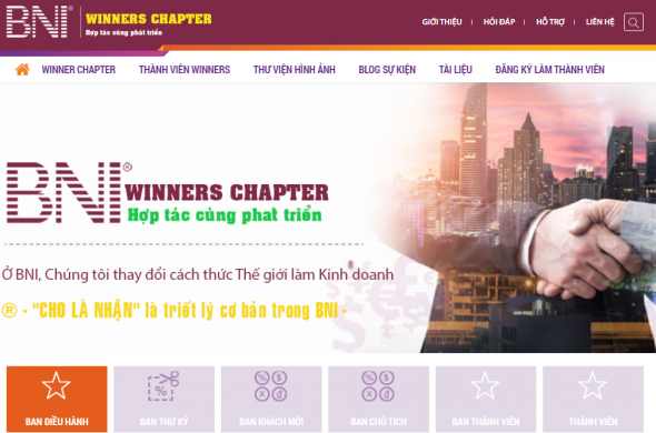 Dự án website BNI Winners Chapter